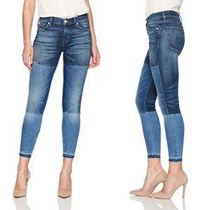 Hudson Isla Patchwork Midrise Crop Jeans 30